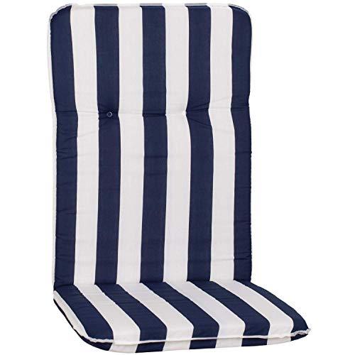 Beo Gartenmöbel Auflage Streifen blau Weiss für Hochlehner Elista MS08