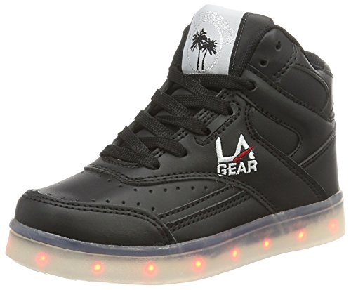 L.A. Gear Unisex-Kinder FLO Lights High-Top, Schwarz (Black wht Outsole), 35 EU
