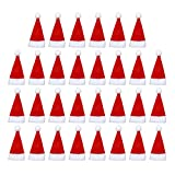 Holibanna 30 pezzi cappellini natalizi cappelli portaposate porta posate cappello santa decorazione natalizia