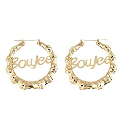 Multiple Style:There are multiple styles of personalized exaggerated hoop earrings :round circle earrings,oval circle earrings,square earrings,double circle earrings,trapezoidal earrings. Product Dimension:Inner diameter:6.5cm.Outer diameter:9cm. Mai...