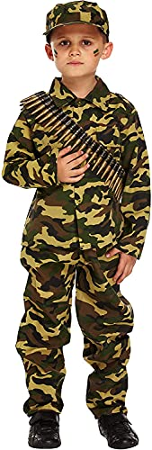 Fancy Pants Party Store Boys Kids Army Uniform War Camouflage Book Day Fancy Dress Costume All Ages VEX U00182/183/184 (4-6 Years) by