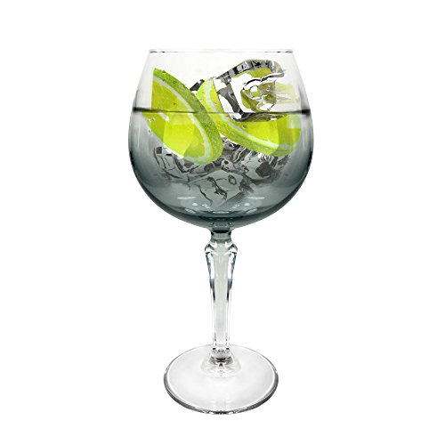 Ginsanity Speakeasy Platinium Coupe de Verres Gin & Tonic Ballon Cocktail/Lunettes dans Une Boîte Cadeau [585ml]