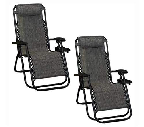"""Silla reclinable """"zero gravity"""" (2 piezas). Su sistema ofrece un soporte de doble amortiguación. Las piernas y el respaldo están angulados para que puedas RELAJARTE EN TU..."""