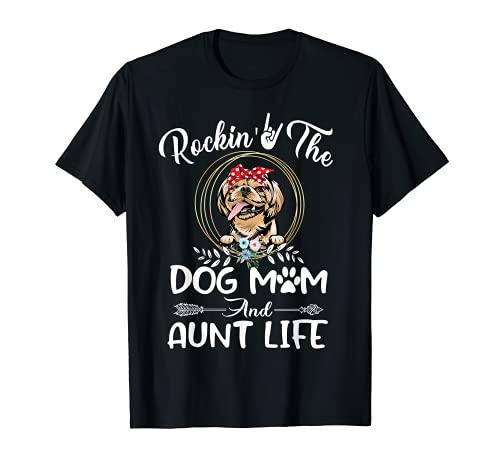 Shih Tzu mecedora el perro mamá y tía vida día de la madr