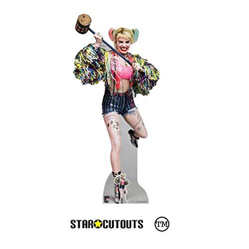Star Cutouts Ltd Star Cutouts SC1521 Harley Quinn Schaukelschlägel Margot Robbie Greifvögel Höhe 183 cm Breite 83 cm