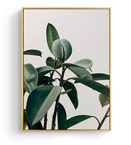CNHNWJ Scandinavië verse plant muurkunst canvas poster afdrukken Rotterdam Nederland Nordic decoratie schilderij decoratieve afbeelding 50x70cmx1 geen lijst