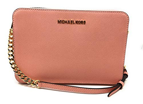"""Zipper Closure, 2 Open Pockets Leather 9.5""""L X 6.5""""H X 2""""W 20-26"""" Adjustable Shoulder Strap IMPORTANT : Style Made Only For MK Outlet, Does Not Include Duster Bag."""