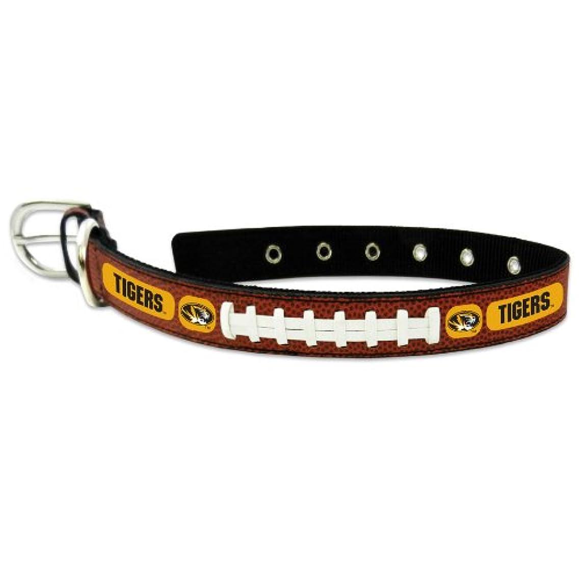 不利予備スケジュールMissouri Tigers Classic Leather Medium Football Collar
