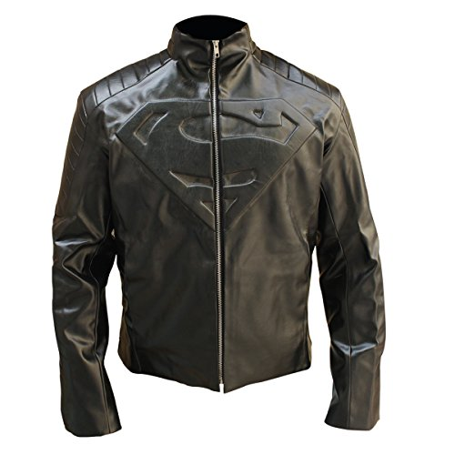 ICON STORE Halloween Jacket Costume Adults - Superhero Motorcycle Leather Jackets for Men (Red & Black, Medium)