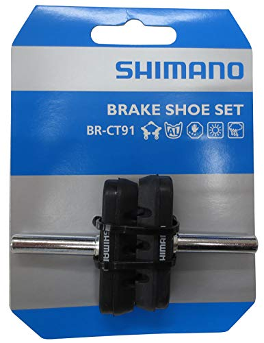 SHIMANO Unisex– Erwachsene BR-CT91 Bremsschuh, Schwarz, 1 Paar