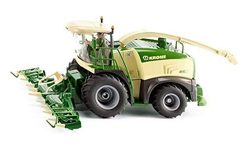 siku 4066, Krone BiG X 580 Maishäcksler, 1:32, Metall/Kunststoff, Grün/Beige, Faltbares Maisgestell, Lenkbare Vorderachse, Drehbares Auswurfrohr