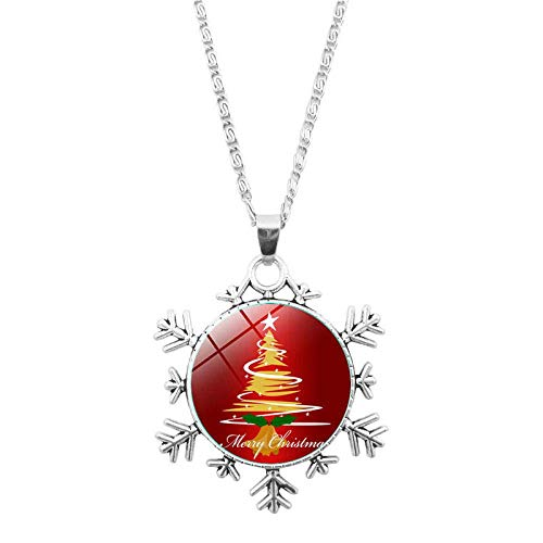 DZX Time Gemstone Jewelry,Creative Beautiful Christmas Tree Art,Christmas Snowflakes Bracelet European And American Necklace Jewelry Crystal,Fashion Gift