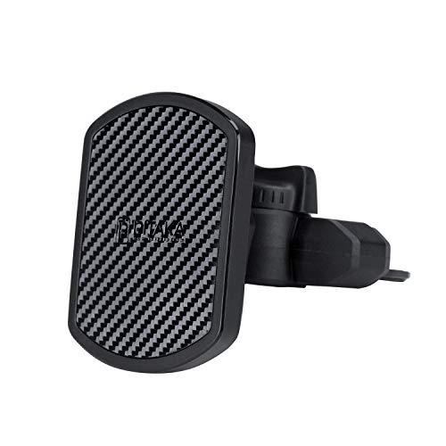 pitaka Handy KFZ Halterung [CD Slot Magmount] Magnet CD Slot Autohalterung 360 Grad Rotation Robust & Langlebig CD-Slot Handyhalterung
