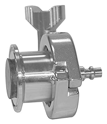 "Dixon B45AB-R250 Stainless Steel 316L Sanitary Air Blow Check Valve, 2-1/2"" Tube OD Quick Disconnect by Dixon Valve & Coupling"