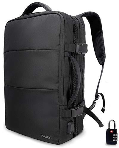Evoon リュック メンズ ビジネスリュック バックパック リュックサック 大容量 旅行バック 防水 ビジネス 多機能 撥水加工 USB 盗難防止 人気 15.6インチ ブラック