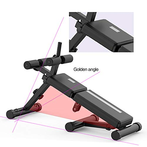 Multi-Workout Bench, Foldable Sit-up Abdominal Back Extension Strength Training Exercise Bench with Adjustable Height and Angle, Suitable for Whole Body (Max Weight Capacity: 440Lbs)
