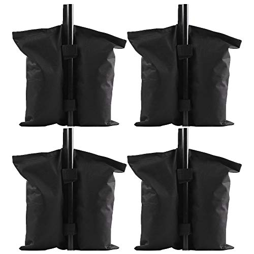 Firlar 4 Pack Canopy Weight Bags, Heavy Duty Double-Stitched Sand Bag Tent Base Weight Bag, Leg Weights for Anchoring Gazebos, Tent, Sun Shades,Trampolines