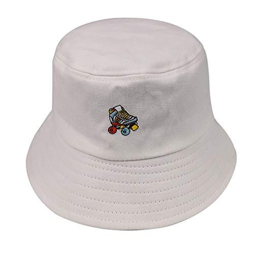 Bucket Hat Chapeau Noir Blanc Rose Couleur Skates Bucket Hat Femmes Casquettes De Mode Blanc