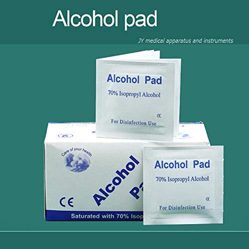 Sanitair 100 stuks alcohol katoenen tabletten kleine wondbloed sterilisatie EHBO desinfectietabletten doekjes Toiletpapier