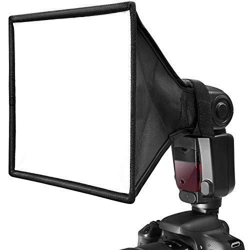 ALIXIN-Universal Collapsible Photography Flash Difusor Translucent Light Softbox para Flashes de cámara para Canon,Vivita,Sunpak,Nissin,Sigma,Sony,Pentax,Olympus,Panasonic Lumix Etc Speedlight. (S)