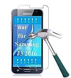[2er Pack] Panzerglas für Samsung Galaxy J3 2016 gehärtetes Glas 9H, Echtglas Glasfolie Panzerglasfolie Panzerfolie Folie Bildschirmschutz Bildschirmschutzfolie von Smartphone-Equipment