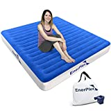 EnerPlex High Speed Wireless Queen Air Mattress for Camping Rechargeable Technology Queen Airbed...