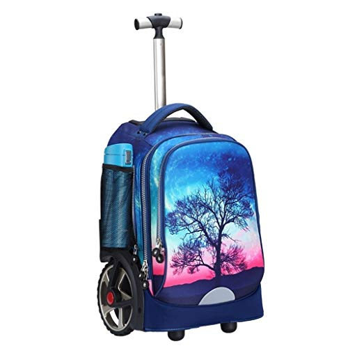 LYRWISHLY Kids Trolley Bag with Wheels - Child School Wheeled Luggage Bag Trip Zipper Backpack for Boys Girls Children Student,Multifunction Wheeled Backpack Luggage (Size : G)