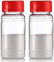 Zilpoo Set of 2 - Plastic Salt and Pepper Shakers with Lid, Moisture Proof Spice Dispenser, Christmas Seasoning Container Pourer with Shaker Lids, 3.5 oz. Red