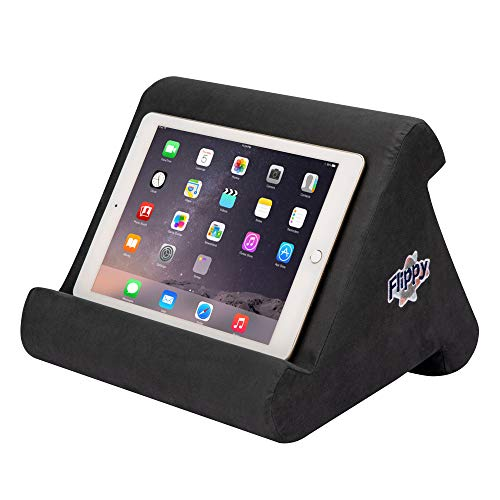 Flippy Multi-Angle Soft Pillow Lap Stand for iPads, Tablets, eReaders, Smartphones, Books, Magazines (Smokey)
