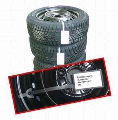 Rad und Reifen anhänger Ventilanhänger 100 St zur Rädereinlagerung,saisonalen Einlagerung, einfacher geht es nicht