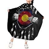 Colorado Flag Pull Apart Child Haircut Catcher Apron Cape Hairdresser Hair Cutting Barber Tool for Kids 39 X 47 in