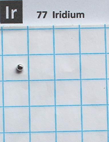 0,18 Gramm massives Iridium-Pellet 99,98% – Pure Element 77 Probe
