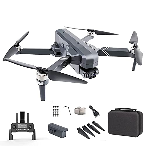HAOJON Dron 4K EIS con cámara UHD para Adultos, cuadricóptero GPS fácil para Principiantes, Retorno automático a casa, cámara Follow Me Anti-Shake 1 batería