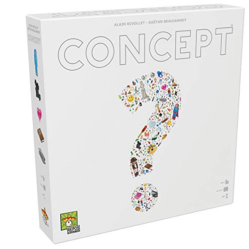 Repos Production- Juego de Tablero Concept, Color Blanco (CON01ES)