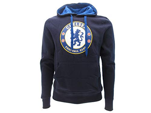 Chelsea F.C. Kapuzenpulli Hoodie Sweatshirt Original Mit Offizieller Lizenz (L Large)