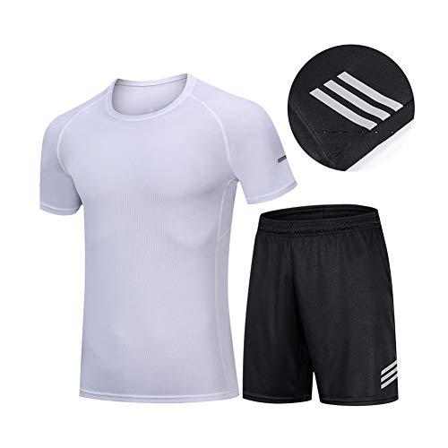 XIAMIMI Mens Sportswear Set Male Anzug Compression Sportbekleidung für Männer Gym Fitness Kleidung Laufen Jogging Workout-Sport-Anzüge,C,XXXL