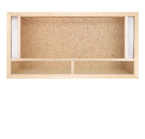 Repterra Terrarium reptielen & batrassen van OSB-hout, eenvoudige montage met ventilatie aan de voorkant, 80 x 40 x 40 cm