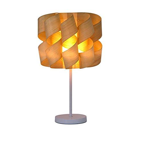 Tischlampe Holz Lampenschirm Designer Tischlampe Studie Schlafzimmer Nachttischlampe Dekoriert Holzfurnier Lampe Wohnzimmer Lampen Photosynthese 220v E14