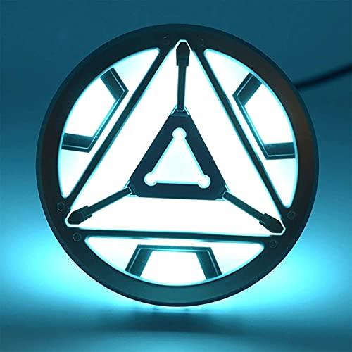 WXHJM 1: 1 Iron Man Reactor MK43,Wearable Iron Man Ark Reactor Modelo de Aleación,Cofre LED Luminoso,Marvel Avengers Superhéroe MK43