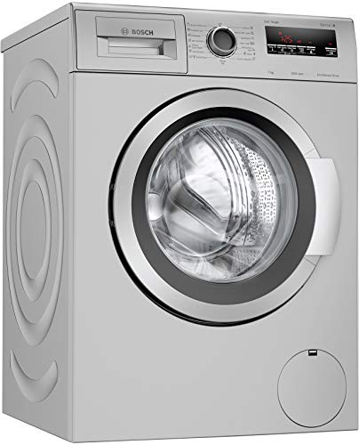 Bosch 7 kg 5 Star Inverter Touch Control Fully Automatic Front Loading Washing Machine with In - built Heater (WAJ2416SIN, Silver)
