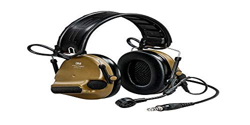 3M PELTOR ComTac VI Nib Headset, Foldable, Single Lead, Standard Dynamic mic, MI Input, NATO Wiring, Coyote