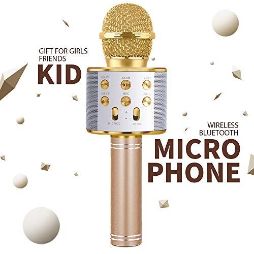 DIMU Kinder Mikrofon Spielzeug für Mädchen Junge, Geburtstagsgeschenk Geschenk für 5-9 Jahre altes Spielzeug singen Bluetooth-Mikrofon für Mädchen Kinder Alter 6-12 Jungen