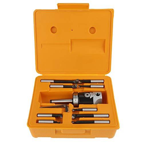 Ccylez F1 12 Bohrkopf Bohrstangen Set, F1 12 50mm Bohrkopf Fräsmaschine Zubehör mit 9 Stücke 12mm Schaft Bohrstangen,3 Schlüssel und 1 Kunststoffkoffer für Bohr/CNC Fräsmaschinen