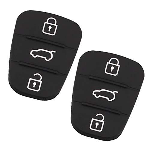 B Blesiya 2 Piezas de Repuesto para Coche, 3 Botones, Carcasa para Llave para Hyundai I30 IX35, Negro