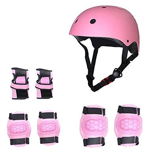 Children's Roller Skating Protective Gear Complete Conjunto de 7 piezas Balance Bike Casco de bicicleta para niños conjunto de engranajes de protección para niños Rueda de patineta Rueda de protección