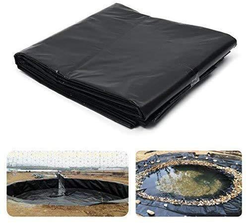 Baogu Schwarz 300cm x 300cm HDPE 20S 0,15 mm Stärke Teichfolie für Gartenteich UV-Beständig reißfest umweltfreundlich