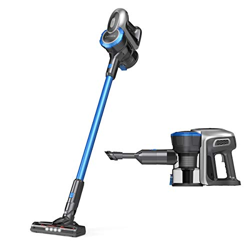 Cordless Vacuum Cleaner, Exmate Stick Vacuum Cleaner 12 Kpa Powerful Suction 2 in 1 Handheld Vacuum, Lightweight with Rechargeable Lithium Ion Battery, Wireless Vacuum Cleaner for Car Carpet Curtain