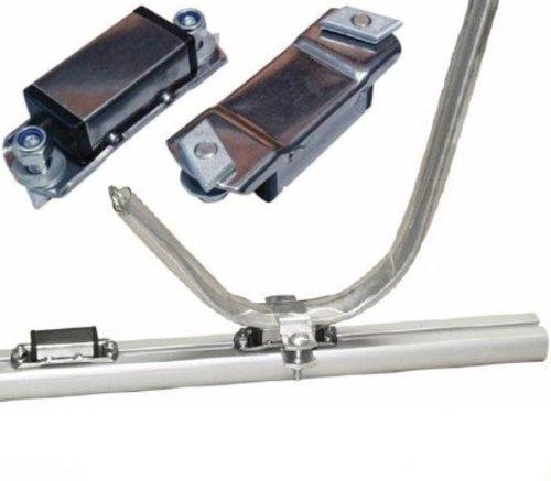 Adaptador Prijon para oval servicio, adaptador para barras con caja de acero inoxidable, por par