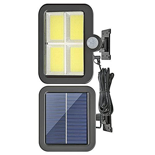 Merssavo Luz solar de la pared, impermeable 128LED Solar COB Sensor de movimiento Luz de la lámpara de pared para el jardín al aire libre