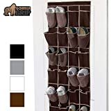 Gorilla Grip Premium Over The Door Shoe Organizer, 24 Durable...